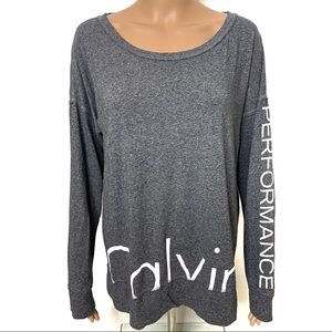 Calvin Klein Performance Gray Longsleeve Top